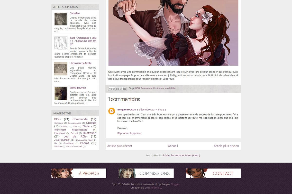 Création de portfolio en ligne, syb illustration