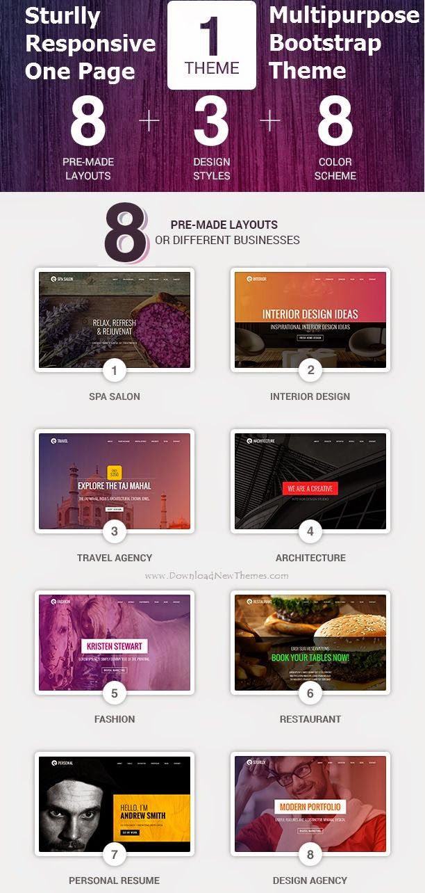 One Page Multipurpose Bootstrap Theme 2015