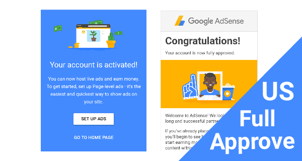 AdSense US Full Approve