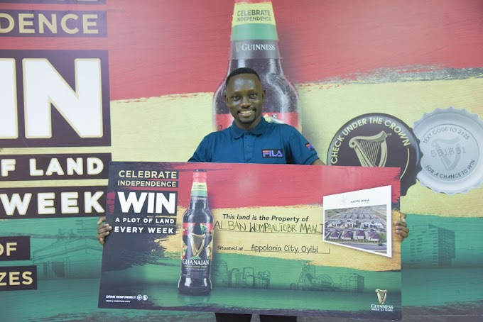 Wa Poly Graduate gets head start in adult life winning a 'Piece of Ghana' in Guinness Promotion