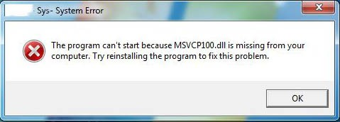 """""""The program can't start because ***.dll is missing from your computer"""""""