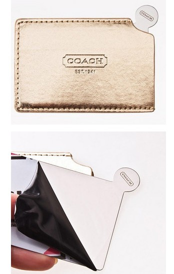 Coach Limited Edition Stainless Steel Pocket Mirror