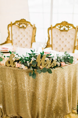 sweetheart table decor and chairs