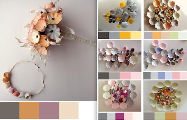 matrimonio eco friendly  2018 tendenze colore : grigio. Bouquet e fiori di carta