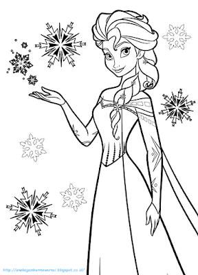 Mewarnai Gambar Frozen - 4