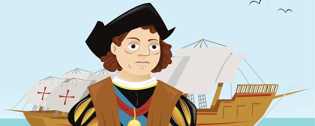 Dibujos en color de Cristobal Colón