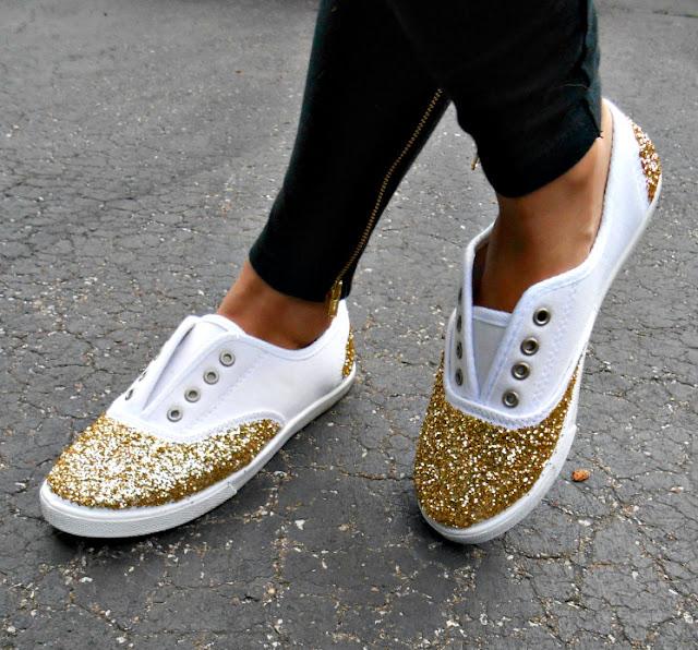 Sneaker ayakkabı yenileme yaldızlı