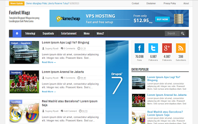 Fastst Magz - Template Blog SEO