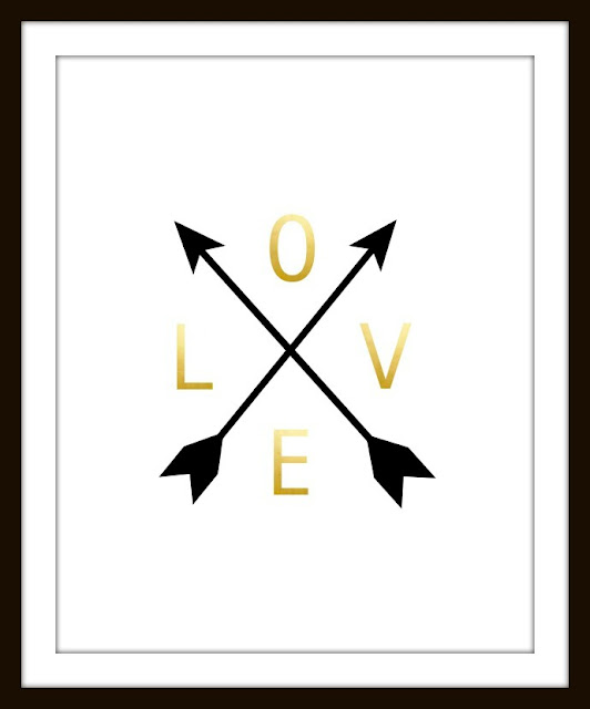 printable love with arrows
