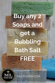 Buy 2 soaps and get a free bath salt