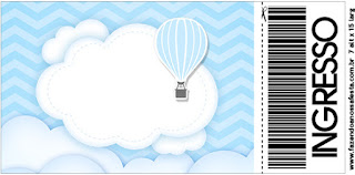 Flying in Light Blue: Free Printable Invitations.