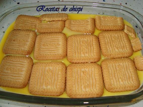 Pastel de galletas y Flan