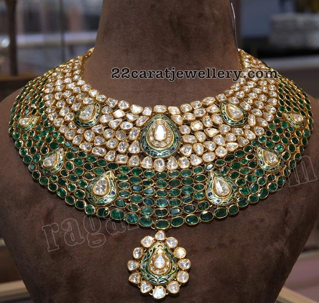Flat Diamond Harams by Kalasha Jewellers
