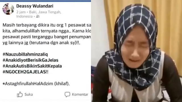 Ibu ini Hina dan Anggap Anak Autis Berisik Lewat Status Facebooknya, Pantaskah Kita Bully?