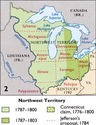 The Northwest Ordinance bans slavery in the Northwest Territory