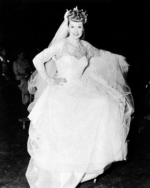 Lucille Ball Wedding Dress