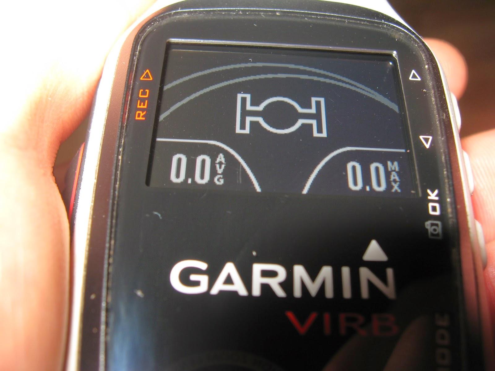 Garmin Virb Elite test kamery, ekran wyświetlacz