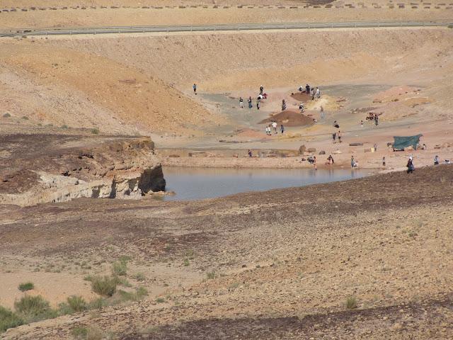 האגם באתר אבן רוח מים