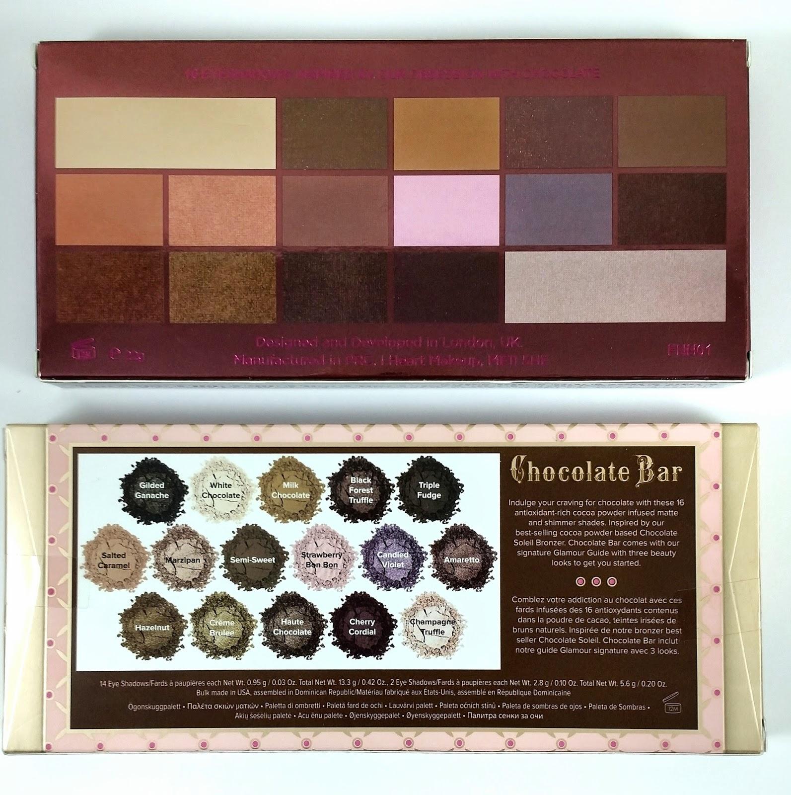 Makeup Revolution I Heart Chocolate Vs Too Faced Chocolate Bar