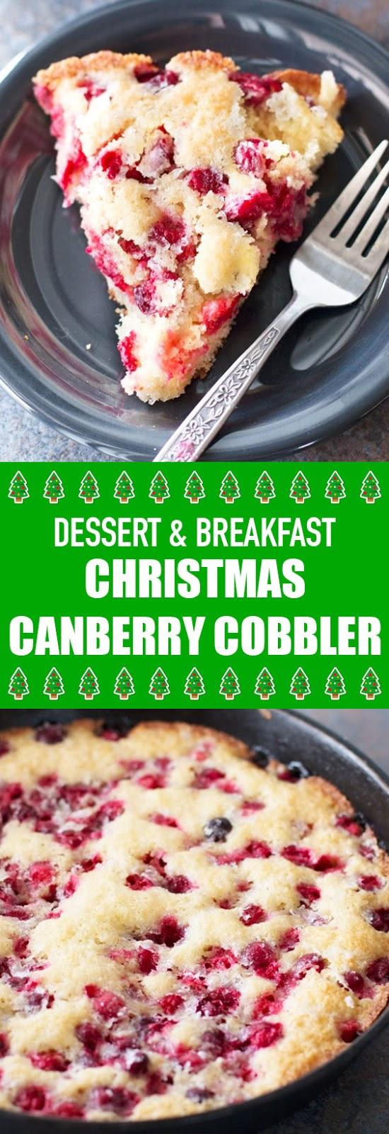 Dessert & Breakfast Christmas Cranberry Cobbler