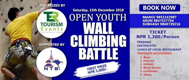 Exciting Open Youth Wall Climbing Battle 2018 Get Roling in Nepal