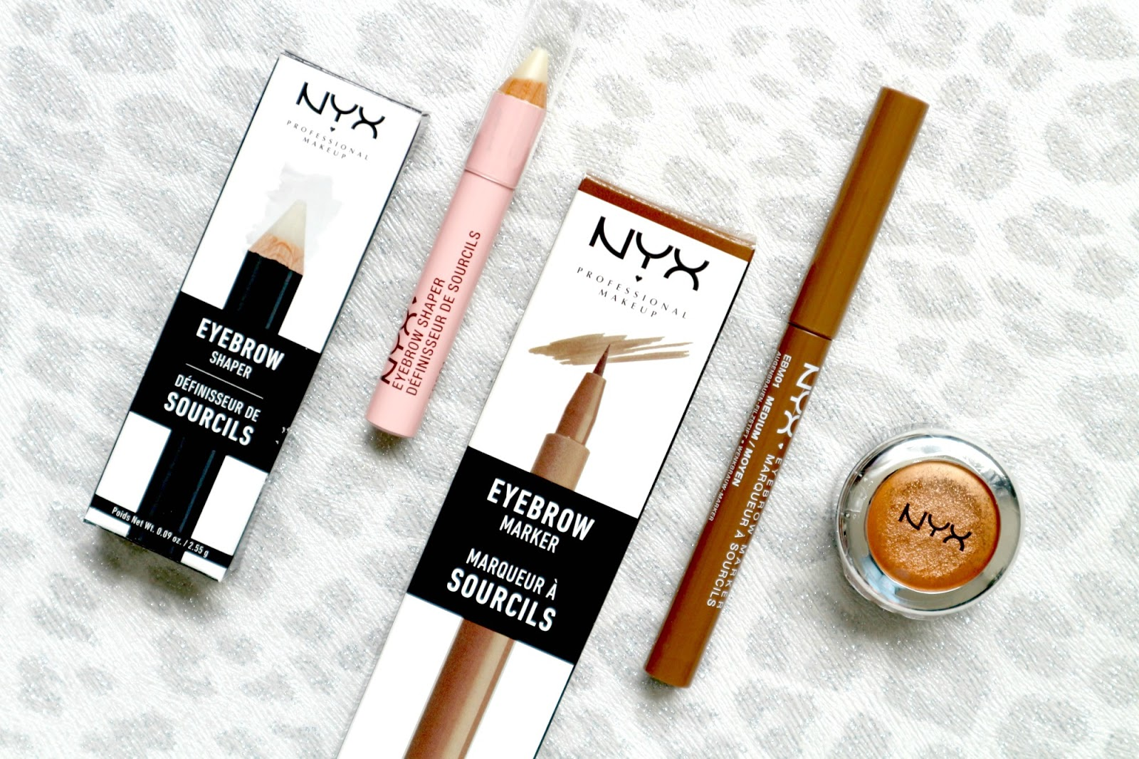 NYX brow products