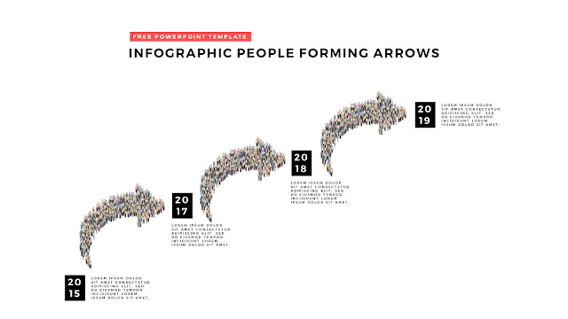 Free PowerPoint Template with Infographic People Forming Arrows Slide 3