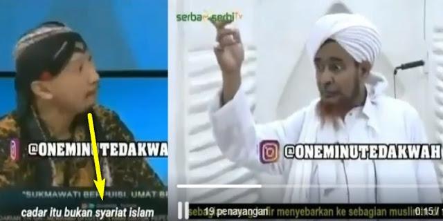 Sok Tau Soal Cadar, Abu Janda dibungkam oleh Hujjah Habib Umar