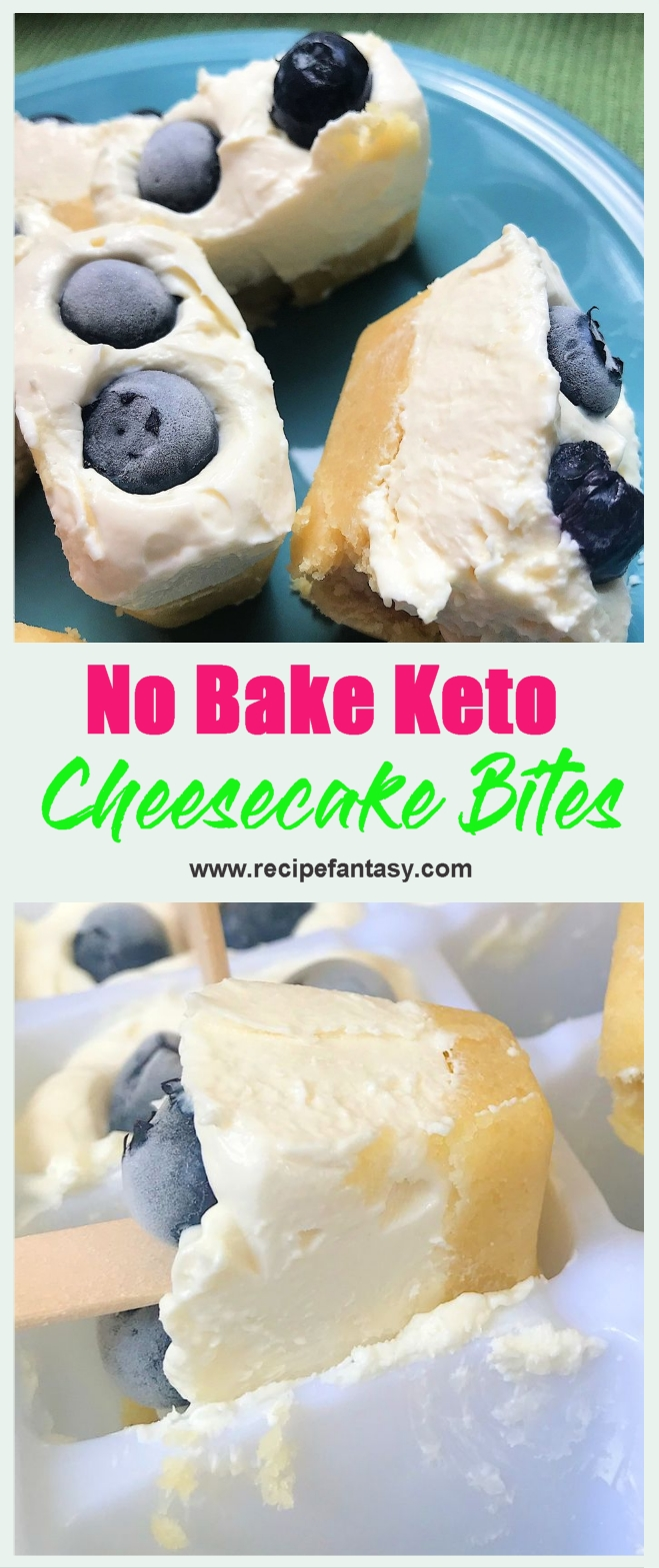 No Bake Keto Cheesecake Bites