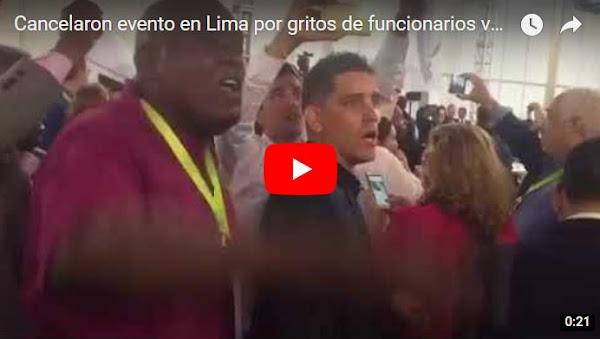 Cancelaron evento en Lima por gritos de funcionarios venezolanos y cubanos