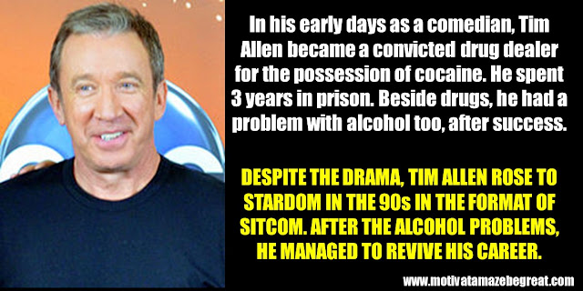 63 Successful People Who Failed: Tim Allen, Success story, Drugs, Alcohol, Sitcom, Return, Revived career.