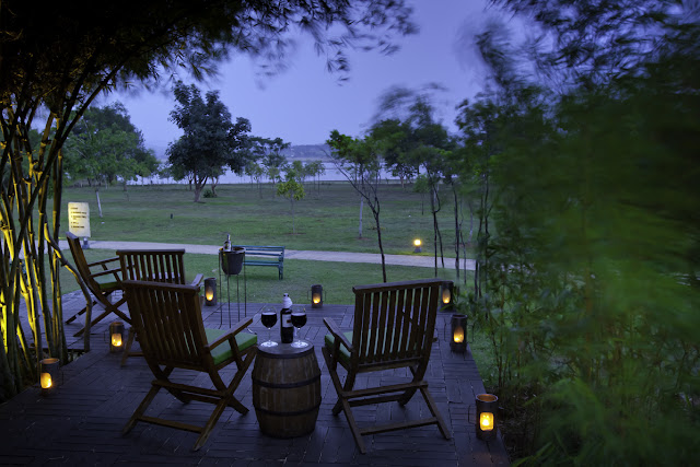 Escape into the monsoon charm of The Serai Resorts while the landscape glistens