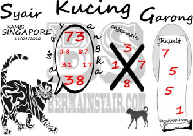 Kode syair Singapore Kamis 17 September 2020 274