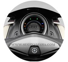 YAMAHA NMAX : FULL LCD MOND EYE METER PANEL Silinder tunggal panel motif meteran dengan mudah dibaca instrumen.