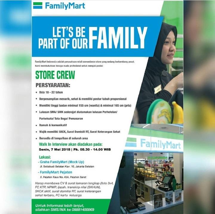 Walk In Interview FamilyMart 7 Mei 2018