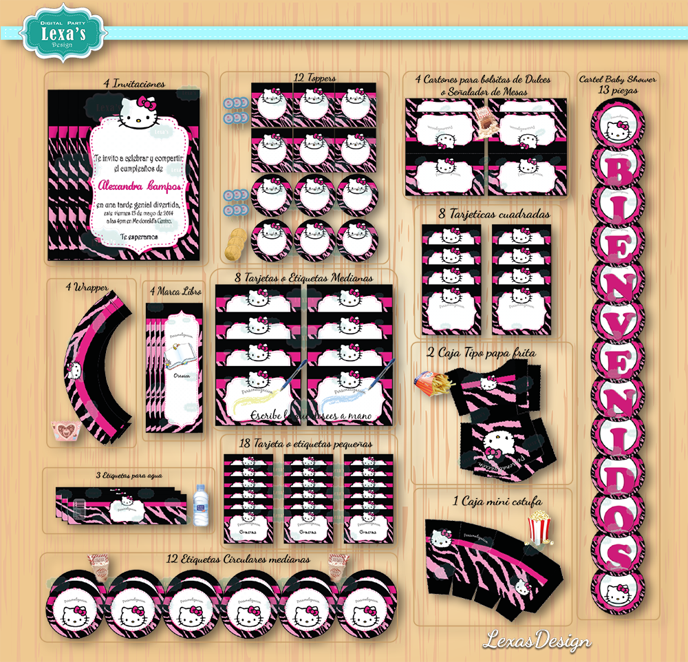 Kit imprimibles para fiestas Hello Kitty gratis
