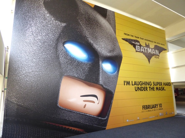 Lego Batman movie billboard