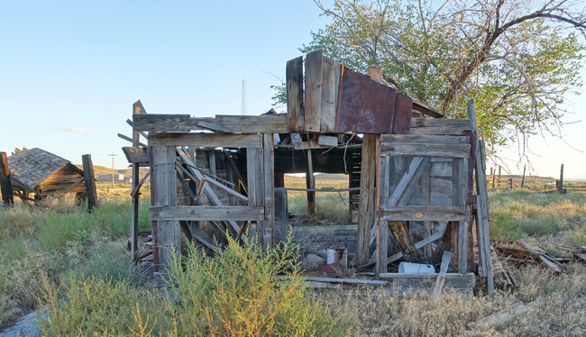 Abandoned buildings in Thompson Springs Utah and Sego ghost town