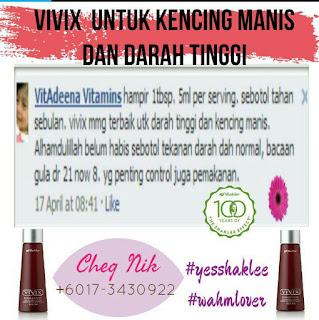 vivix untuk kencimg manis dan darah tinggi