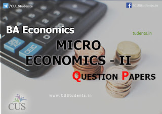 Micro Economics II previous Question Papers