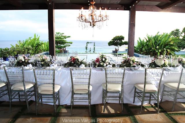 Elegant wedding Villa Carambola