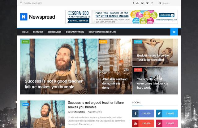 New Spread Blogger Teması