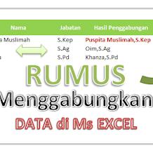 Rumus Menggabungkan Data Yang Terpisah Menjadi Satu Pada Ms Excel