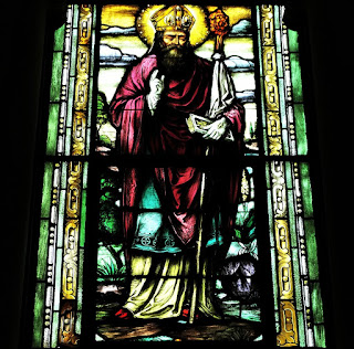 Vitral de São Agostinho - Igreja Nossa Senhora das Dores, Santa Maria (RS)