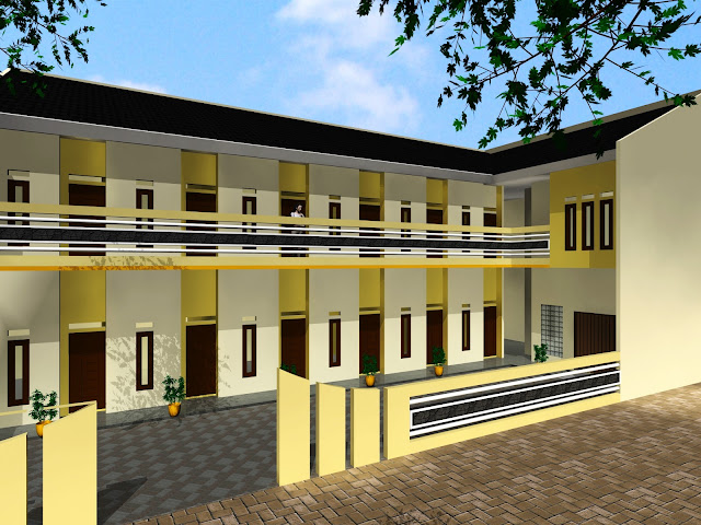 Desain Rumah Kost Di Lahan Luas