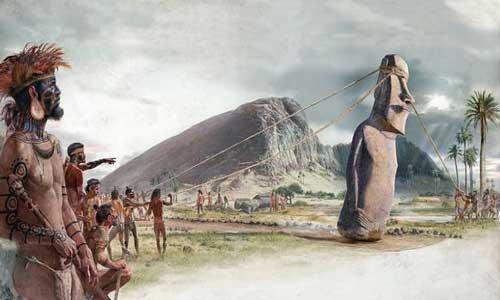 Misteri Patung Kepala Moai Di Pulau Paskah