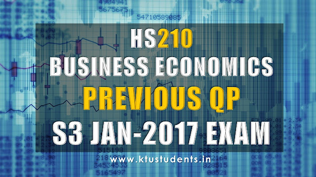 ktu previous question paper for business economics hs200