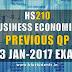 Business Economics HS200 Previous Question Paper S3 January 2017