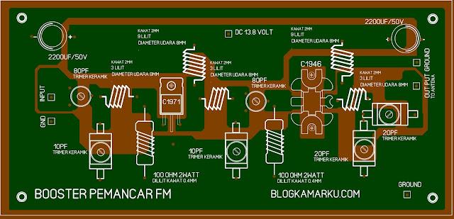 pcb layout pemancar radio fm Jarak Jauh