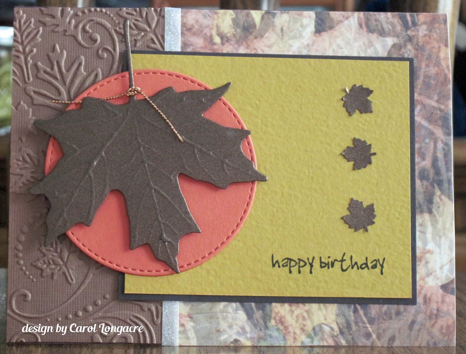 Our Little Inspirations Autumn Birthday Card